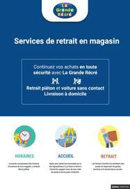 Catalogue La Grande Récré en cours, Services de retrait en magasin, Page 1