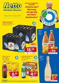 Aktueller Netto Getränke-Markt Prospekt, Flasche leer? Mehrweg voll günstig bei Netto nachkaufen!, Seite 1