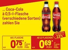 Cola von Coca-Cola im aktuellen Metro Prospekt für 0.82€