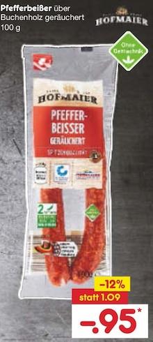 Wurst von HOFMAIER im aktuellen Netto Marken-Discount Prospekt für 0.95€