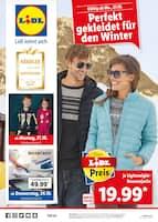 Aktueller Lidl Prospekt, Perfekt gekleidet für den Winter, Seite 1