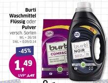 Waschmittel von Burti im aktuellen BUDNI Prospekt für 1.49€