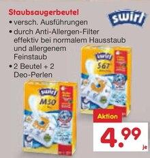 Zyklon Staubsauger von swirl im aktuellen Netto Marken-Discount Prospekt für 4.99€