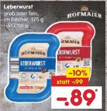 Wurst von Hofmaier im aktuellen Netto Marken-Discount Prospekt für 0.89€