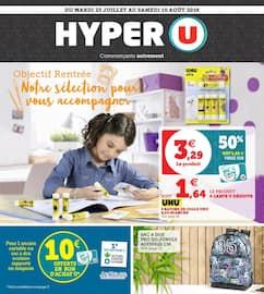 Catalogue Hyper U en cours, Objectif rentrée. Notre sélection pour vous accompagner, Page 1
