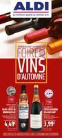 Catalogue Aldi en cours, Foire aux Vins d'Automne, Page 1