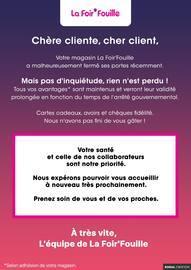 Catalogue La Foirfouille en cours, Votre santé et celle de nos collaborateurs sont notre priorité., Page 1