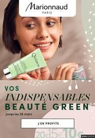 Catalogue Marionnaud en cours, Vos indispensables beauté green, Page 1