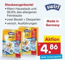 Staubsauger von Swirl im aktuellen Netto Marken-Discount Prospekt für 4.86€