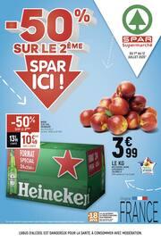 Catalogue Spar en cours, -50% sur le 2ème, Spar ici !, Page 1