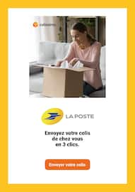 Catalogue La Poste en cours, Envoyez votre colis de chez vous en 3 clics, Page 1