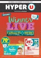 Catalogue Hyper U en cours, Winner live, Page 1