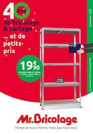 Catalogue Mr Bricolage en cours, 40 ans de bricolage & partage ... et de petits prix, Page 1
