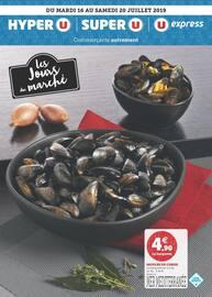 Catalogue Super U en cours, Les jours du marché, Page 1