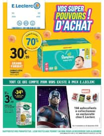 Catalogue E.Leclerc en cours, Vos super pouvoirs d'achat !, Page 1