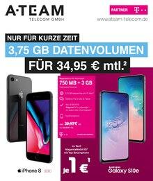 A-Team Mobilfunk-Concept GmbH, NUR FÜR KURZE ZEIT 3,75 GB DATENVOLUMEN FÜR 34,95 € MTL. für Köln