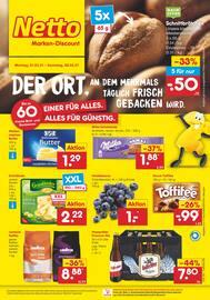 Aktueller Netto Marken-Discount Prospekt, DER ORT, AN DEM MEHRMALS TÄGLICH FRISCH GEBACKEN WIRD., Seite 1