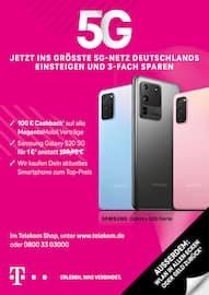 Aktueller Telekom Shop Prospekt, 5G - JETZT INS GRÖSSTE 5G-NETZ DEUTSCHLANDS EINSTEIGEN UND 3-FACH SPAREN, Seite 1