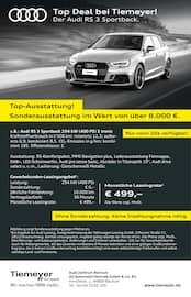 Aktueller Audi Prospekt, Top Deal bei Tiemeyer!, Seite 1
