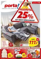 Aktueller porta Möbel Prospekt, Preissturm 25% auf Ihren Möbelkauf , Seite 1