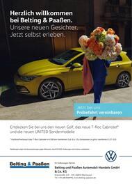 Aktueller Volkswagen Prospekt, Herzlich willkommen bei Belting & Paaßen, Seite 1