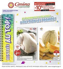 Catalogue Casino Supermarchés en cours, Le chemin de la rentrée… direction les promos !, Page 1