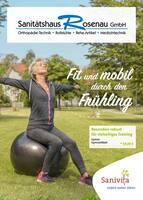 Aktueller Sanitätshaus Rosenau GmbH Prospekt, Fit und mobil durch den Frühling, Seite 1
