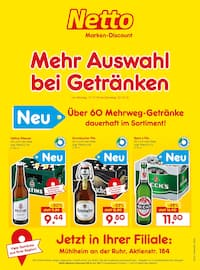 Netto Marken-Discount, Mehr Auswahl bei Getränken für Essen