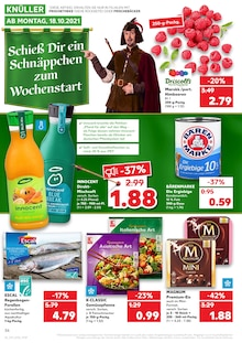Kaufland Prospekt für Hennigsdorf: KNÜLLER, 40 Seiten, 17.10.2021 - 20.10.2021