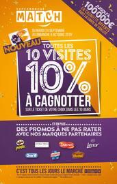 Catalogue Supermarchés Match en cours, Toutes les 10 visites, 10% à cagnotter, Page 1