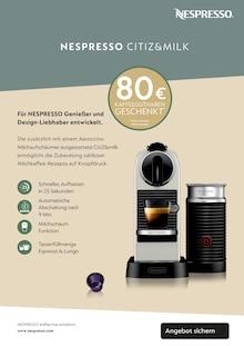 Getraenke im Nespresso Prospekt EINLADUNG zu einem NESPRESSO Kaffee auf S. 7