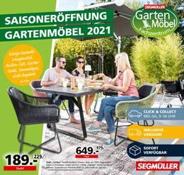Aktueller Segmüller Prospekt, Gartenmöbel 2021, Seite 1