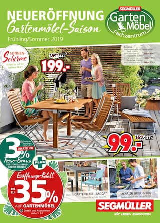 Aktueller Segmüller Prospekt, Segmüller: Gartenmöbel-Saison, Seite 1