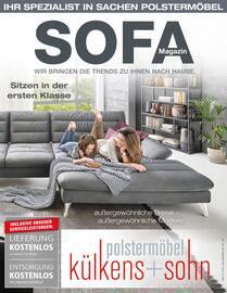 Aktueller külkens+sohn Polstermöbel Prospekt, Sofa Magazin, Seite 1