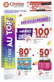 Catalogue Casino Supermarchés en cours, Direction la rentrée… Par ici les promos !, Page 1