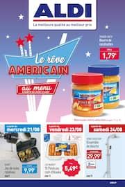 Catalogue Aldi en cours, Le rêve américain au menu, Page 1