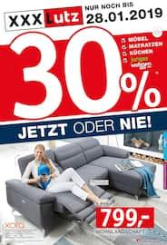 Aktueller XXXLutz Möbelhäuser Prospekt, 30% JETZT ODER NIE!, Seite 1