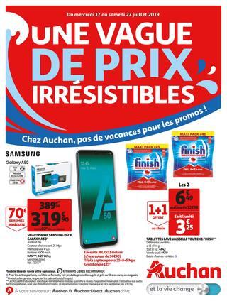 Catalogue Auchan en cours, Une vague de prix irrésistibles !, Page 1