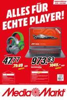 Aktueller MediaMarkt Prospekt, ALLES FÜR ECHTE PLAYER!, Seite 1
