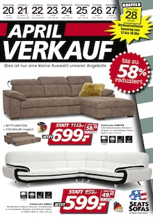 Seats and Sofas - April-Verkauf!