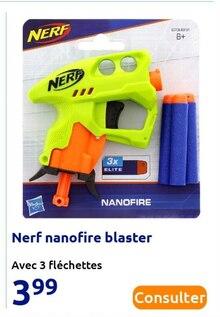 Nerf nanofire blaster à Action dans Mézy-sur-Seine