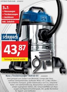 Staubsauger von scheppach im aktuellen BAUHAUS Prospekt für 43.87€