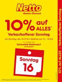 Netto Marken-Discount, Verkaufsoffener Sonntag - 10% auf alles für Berlin