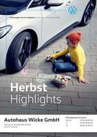 Aktueller Volkswagen Prospekt, Herbst Highlights, Seite 1
