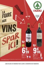 Catalogue Spar en cours, La foire aux vins Spar ici !, Page 1