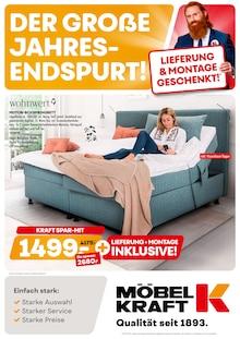 Möbel Kraft Prospekt für Oppin b Halle, Saale: Der grosse Jahres-Endspurt!, 24 Seiten, 5.10.2021 - 9.11.2021