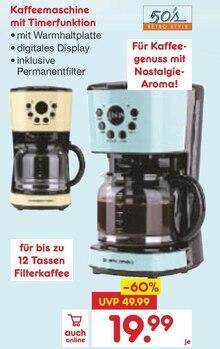 Kaffeemaschine im aktuellen Netto Marken-Discount Prospekt für 19.99€