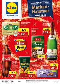 Aktueller Lidl Prospekt, Marken-Hammer zum Fest, Seite 1