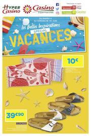 Catalogue Casino Supermarchés en cours, Les belles inspirations - Spécial vacances, Page 1
