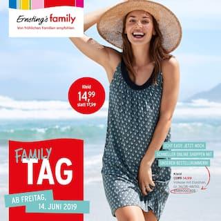 Aktueller Ernsting's family Prospekt, Family Tag , Seite 1